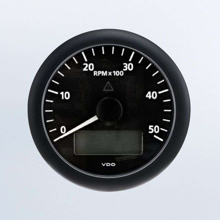Viewline Black Tachourmeter 5000rpm 85mm Aisat Instruments